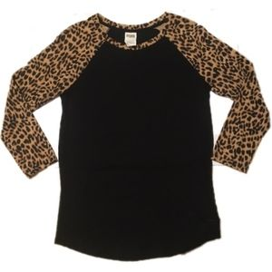 Victoria's Secret PINK Leopard Print Long Sleeve